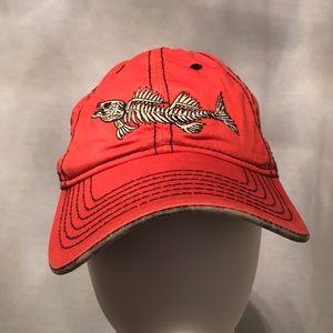 NWOT Orange fish bone hat by Outdoor Cap